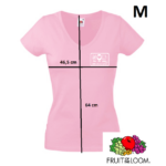 Színes pólók, fogászati emblémával, Rózsaszín M