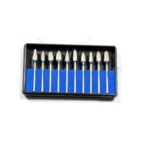 Frézer korrekciós készlet , fogtechnikai, fogsorok korrekciójához 10 db, keményfém