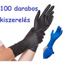 Hosszú szárú nitril kesztyű fekete és kék színben 100 db