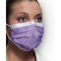 Orvosi maszk3 rétegű, premium , gumis 50 db, lila