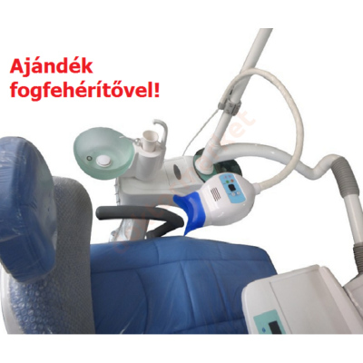 Fogfehérítő lámpa , 6 LED, kezelőegységre szerelhető + ajándék fogfehérítő készlet