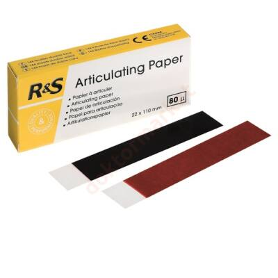 Artikulációs papír 80 mikron, 12x12 db, kék