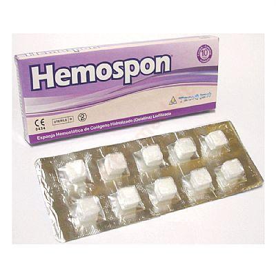 Hemospon vérzéscsillapító kollagén szivacs, steril, bliszteres 30 db