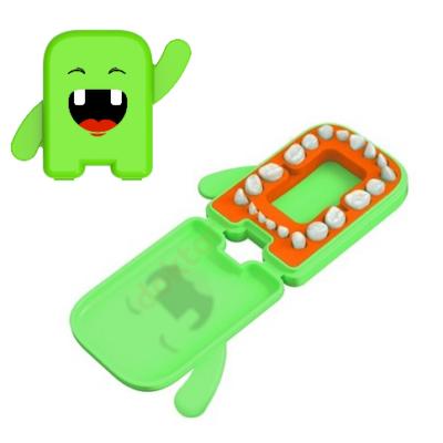 Tejfog tartó doboz, betéttel- Dental Album 7x5 cm- zöld