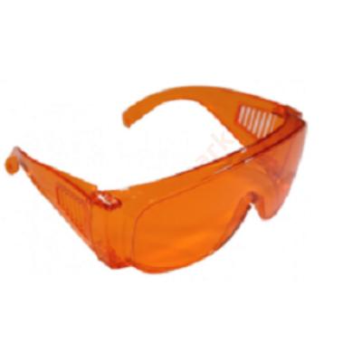 Védőszemüveg műanyag, narancs- fotopolimerizációs lámpához