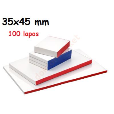 Keverőblokk 35x45 mm 100 lapos