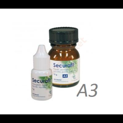 Securafil üvegionomer   tömőanyag 15g/10g A3 színben (25g)
