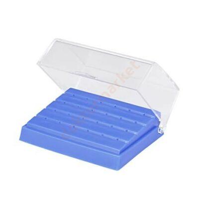 Fúrótartó doboz 24 FG lyukas, átlátszó fedéllel