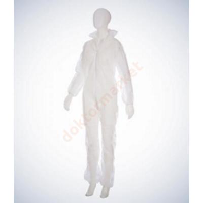 Orvosi kapucnis overall - fehér M méretben