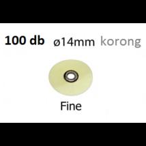 Flexi-D polírozó korongok (14mm korongok)  100 db utántöltő FINOM