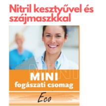 MINI ECO egyszerhasználatos csomag 4 doboz nitril, púdermentes kesztyűvel, és 1 doboz szájmaszkkal