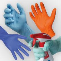 színes latex védőkesztyű