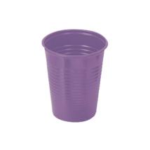 Műanyag pohár, 2dl, színes- lila