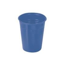 Műanyag pohár, 2dl, színes-sötétkék
