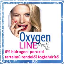 OxygenLINE 6% HP tartalmú rendelői fogfehérítő készlet- kizárólag fogorvosi felhasználásra