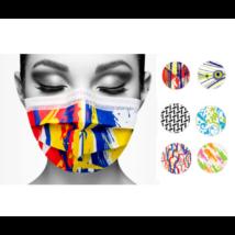 Style 3 rétegű mintás orvosi maszk, - 48 db vegyes mintával