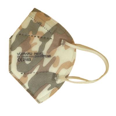 YUNYIFU FFP2 maszk KN95 védelem 5 db terepmintás