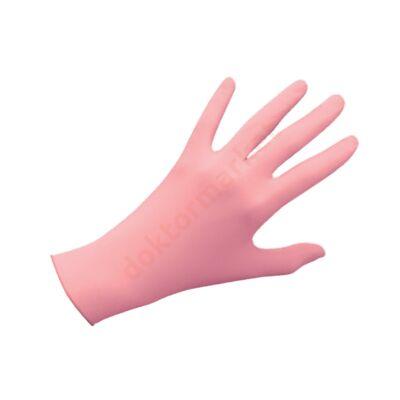 Nitril kesztyű, rózsaszín, 100 db