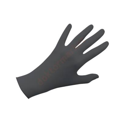 Nitril kesztyű, fekete, 100 db