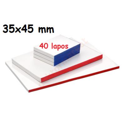 Keverőblokk 35x45 mm 40 lapos