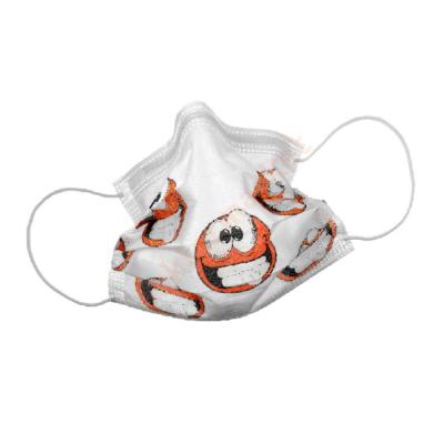 Orvosi maszk, Smily, mosolygós mintával, 50 db, gumis