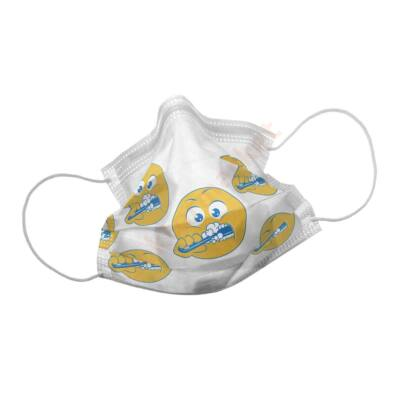 Orvosi maszk, Smily Yellow , 50 db, gumis