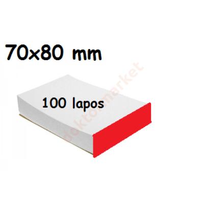 Keverőblokk 70x80 mm 100 lapos