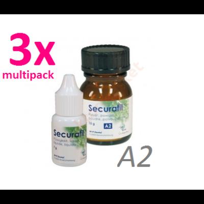 Securafil A2 üvegionomer tömőanyag  15g/10g -Multipack 3db = 3*25g