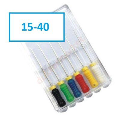Endo Spreader-File , NITI, 6 db 15-40 (25mm) Többféle méretben