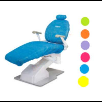 Védőhuzat fogorvosi székre 5 szett -NARANCSSÁRGA + AJÁNDÉK 100db fejtámlavédő narancs színben