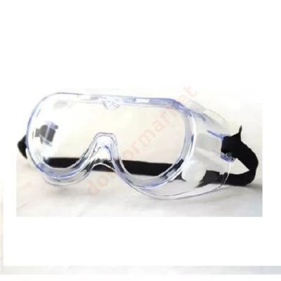 FOGORVOSOKNAK! Résmentesen záródó védőszemüveg műanyag, transzparens, gumipántoss rögzítéssel